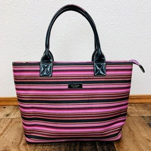 Kate Spade New York Striped Hand Bad with Full Zip